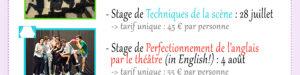 Stage théâtre été 2019 à Lille